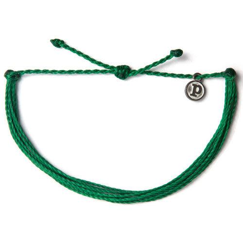 Pura Vida 知名美國衝浪品牌SOLID DARK GREEN 深綠色 基本款 手環