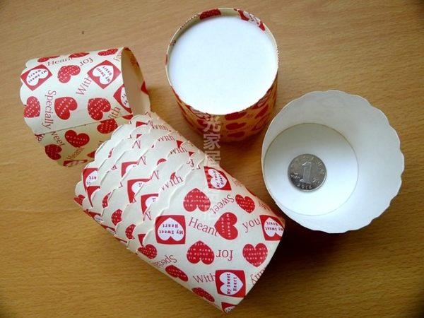 [協貿國際]  紅心形一組25個耐高溫蛋糕紙杯  2個價