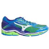 Mizuno Wave Enigma 6 美津濃 男 藍 綠 路跑鞋 慢跑鞋 J1GC161101