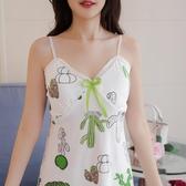 吊帶背心 吊帶睡裙女夏天無袖帶胸墊莫代爾免穿文胸罩性感睡衣清新 韓流時裳