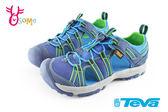 美國TEVA 中童護趾涼鞋 避震 繩索式 水陸機能涼鞋 I6764#藍色◆OSOME奧森童鞋