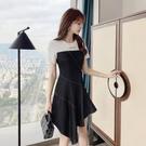 洋裝 連身裙S-XL設計感小眾氣質T恤連...