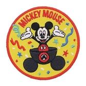 DISNEY 迪士尼米奇90週年紀念系列徽章刺繡熨燙貼布(經典)★funbox★Small Planet_DP25739