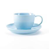 HOLA 璞真純色杯碟組 250ml 淺藍