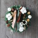聖誕禮品130 聖誕樹裝飾品 禮品派對 聖誕裝飾籐編花環