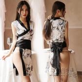 情調衣人女日式和服制服誘惑春夏季火辣情趣內衣寬鬆絲綢性感睡衣 衣櫥秘密
