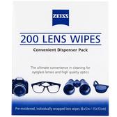 *兆華國際* Zeiss 蔡司 Lens Wipes 濕式拭鏡紙 200片入 清潔鏡面 螢幕 含稅價