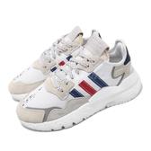 【海外限定】adidas 休閒鞋 Nite Jogger 白 藍 男鞋 女鞋 Boost 中底 運動鞋 反光設計 【ACS】 FV3586