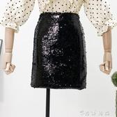 韓版BLING亮片高腰顯瘦半身裙女新款夏季網紅款百搭包臀短裙  时尚潮流