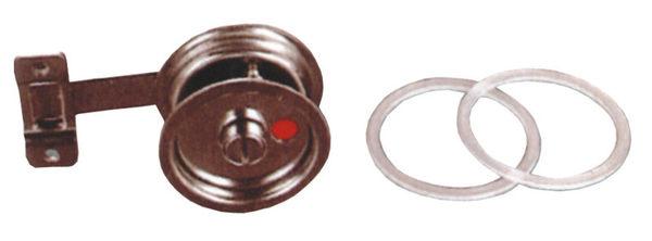 內嵌式橫拉門指示鎖LAH-2B 打掛型 板厚35mm不銹鋼指示鎖浴廁門閂紅綠顏色表示開關安全鎖表示鎖
