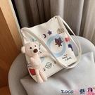熱賣側背包 北包包小包包女包2021新款潮時尚網紅小熊側背百搭可愛水桶包【618 狂歡】