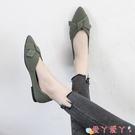 豆豆鞋 2021春季新款網紅百搭尖頭淺口單鞋女韓版平底仙女風溫柔豆豆鞋子 愛丫 新品