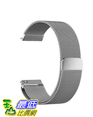 [美國直購] Oitom 銀色 L 6.7吋-9.1吋 不鏽鋼錶帶 Samsung Gear S3 Classic/Gear S3 Frontier Stainless Steel Watch Band