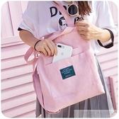 韓版帆布包包女大學生上課背的單肩包斜挎布袋ins原宿ulzzang中包  夏季新品