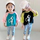 兒童裝秋裝2019新款女童寶寶長袖T恤打底衫嬰兒春秋上衣1-2-3歲4Mandyc
