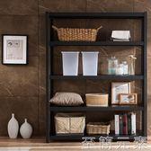 銀祥簡易貨架置物架家用小貨架展示架倉儲藏室倉庫輕型黑色鐵架子WD 至簡元素