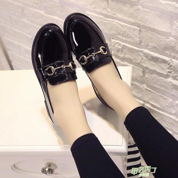 (萬聖節狂歡)低跟鞋 新款英倫學生小皮鞋女鞋子時尚百搭復古低跟原宿一腳蹬