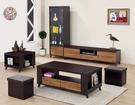 【南洋風休閒傢俱】時尚茶几系列-威爾森雙色積層木大茶几(含凳*2) 沙發桌 咖啡桌 SB673-4