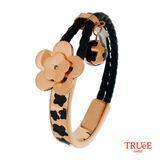 瑞士TRUeE 瑞時寶嘉 TSB16006真皮編織繩鋼手鍊