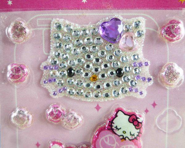 【震撼精品百貨】Hello Kitty 凱蒂貓~KITTY立體鑽貼紙-姬
