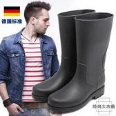 時尚水靴中筒釣魚休閒雨靴水鞋套鞋膠鞋防滑雨鞋【時尚大衣櫥】