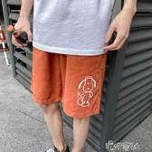 短褲男潮牌ins原宿五分褲子男寬鬆百搭港風chic沙灘中褲直筒休閒 港仔HS