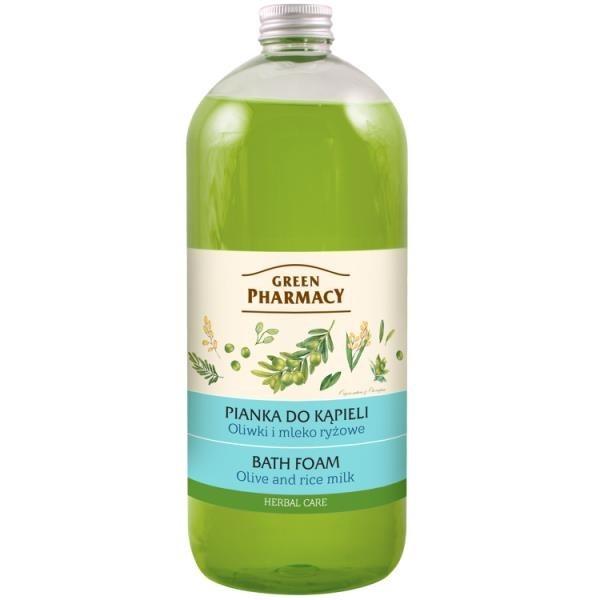 【南紡購物中心】【Green Pharmacy草本肌曜】橄欖&米乳快樂泡泡浴 1000ml