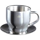 [LOGOS] 不鏽鋼咖啡杯盤組270ml (LG81285113)