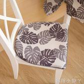 坐墊布藝椅子墊子北歐簡約椅墊加厚餐椅墊家用溫莎椅子 igo全館免運