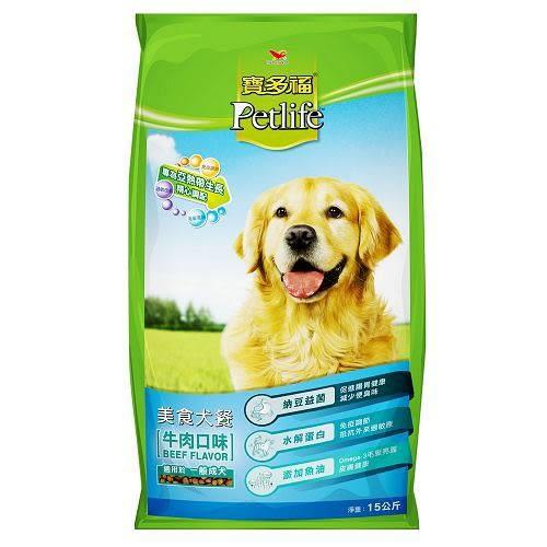 統一寶多福美食犬餐-牛肉15kg【愛買】