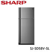 SHARP 夏普 583L 自動除菌離子變頻雙門電冰箱 炫耀銀 SJ-SD58V-SL
