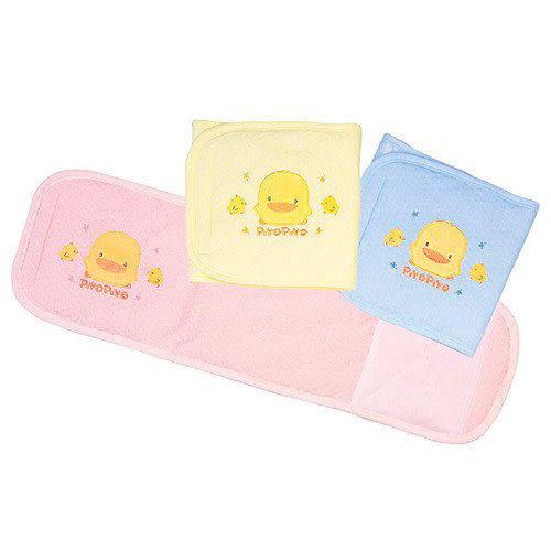 【奇買親子購物網】黃色小鴨鋪棉繡花大肚圍 (藍色/粉紅/黃色)