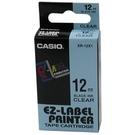 【奇奇文具】卡西歐CASIO XR-12X1 12mm×8M 明底黑字 標誌帶