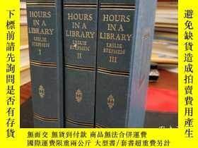 二手書博民逛書店Hours罕見In A Library (3 Volume Set)Y94537 Stephen, Lesli