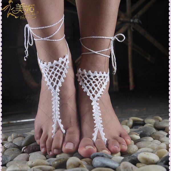 衣美姬♥歐美編織 網狀 手工飾品 腳背上編織圖騰 歐美熱賣款 海灘飾品
