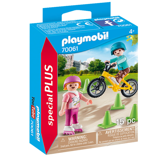 playmobil 溜冰鞋和腳踏車兒童組_PM70061