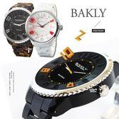 完全計時手錶館│BAKLY 輕巧時尚 玩酷大錶徑腕 BA9019系列 琥珀 黑 白 三色任選下殺