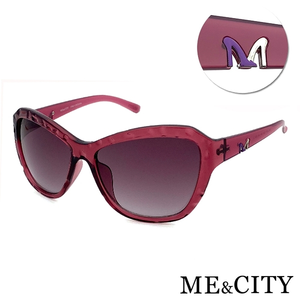 ME&CITY 迷情優雅歐美大框太陽眼鏡 義大利設計款 抗UV400 (ME 1207 E01)