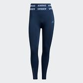 Adidas TRAINING AEROKNIT 7/8 女裝 長褲 緊身 訓練 高腰 九分褲 藍【運動世界】GM5155