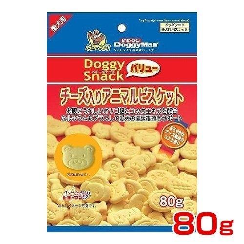*KING  WANG *日本Doggyman【犬用起司動物造型消臭餅乾80g】寡糖添加促進腸骨蠕動