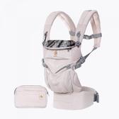 Ergobaby Omni 全階段型四式360透氣款嬰兒揹巾/揹帶-粉色 贈Kids II哺乳曼波枕-粉紅快樂鳥語