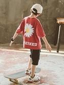 男童T恤 小雛菊童裝男童t恤夏裝2021年夏季中大童洋氣兒童短袖體恤帥氣潮 快速發貨