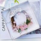 永生花DIY包裝材料,花環透明銀色禮盒