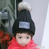 秋冬季新款毛線帽子女士韓版百搭學生保暖針織帽ins風毛球套頭帽 草莓妞妞