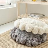 抱枕坐墊圓形榻榻米墊子臥室地上可愛可坐地墊【愛物及屋】