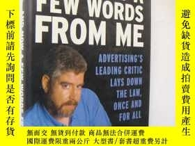 二手書博民逛書店And罕見Now a few words from Me:adv