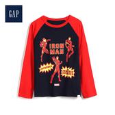 Gap男童 Marvel復仇者聯盟系列圓領長袖套頭T恤528222-靛藍色