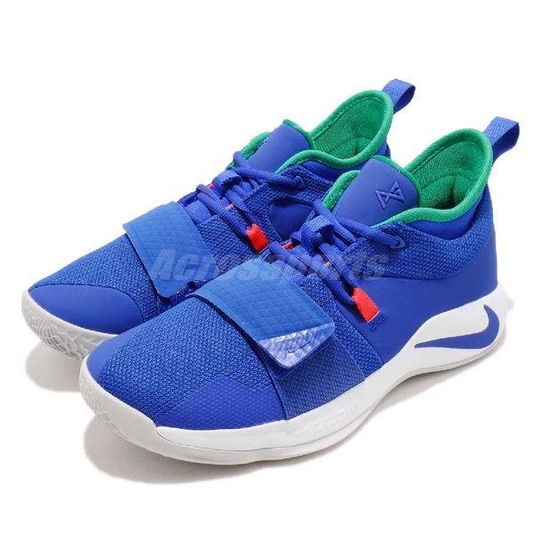 Nike PG 2.5 EP RACER BLUE 藍 白 魔鬼氈 Paul George 男鞋 籃球鞋【PUMP306】 BQ8453-401