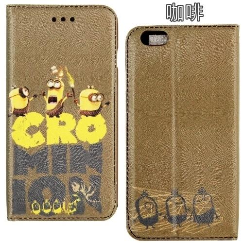 【Minions 小小兵 】iPhone 6/6s 時尚彩繪人物隱磁側掀皮套