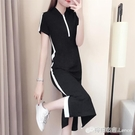 夏季新款中長款短袖過膝T恤裙女時尚休閒寬松顯瘦直筒洋裝 檸檬衣舍